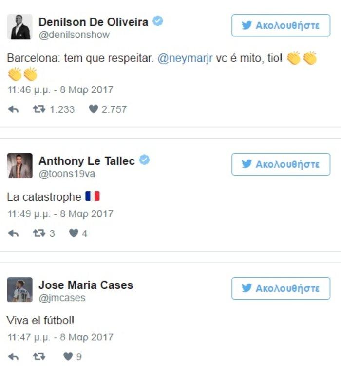 Πώς οι ποδοσφαιριστές εκθείασαν την Μπαρτσελόνα στο Twitter - εικόνα 3