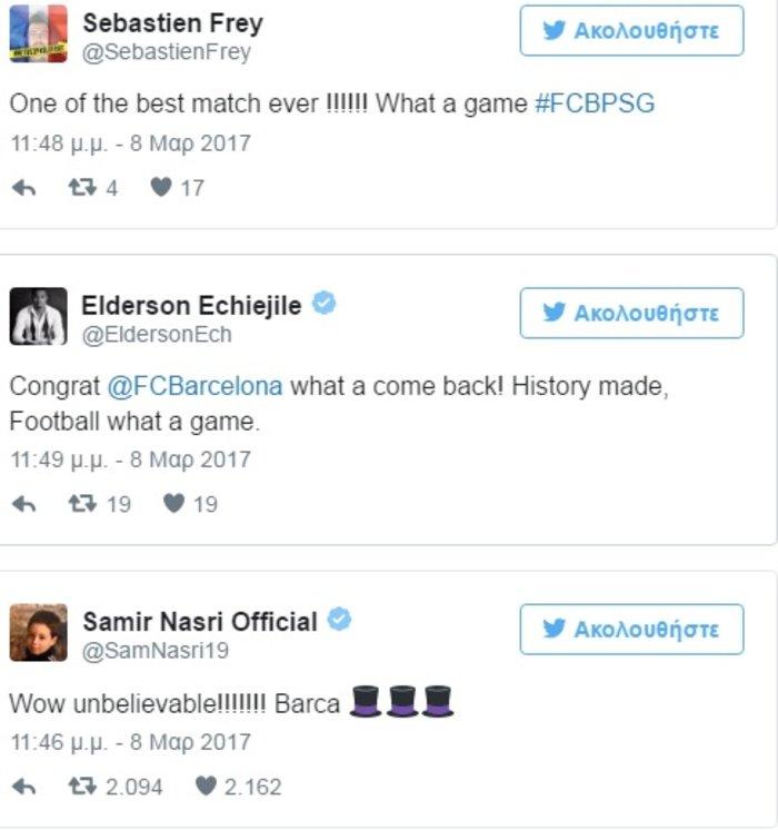 Πώς οι ποδοσφαιριστές εκθείασαν την Μπαρτσελόνα στο Twitter - εικόνα 5