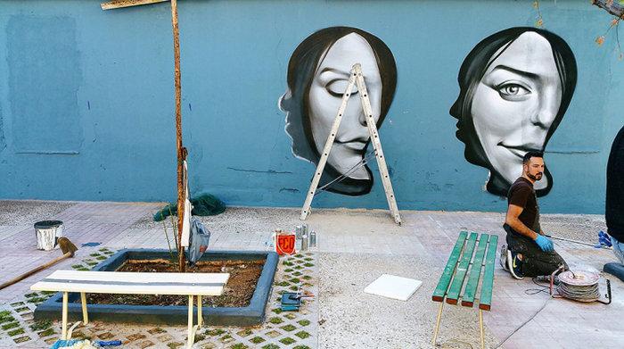 Μια street art επέμβαση σε εγκαταλελειμμένο κτίριο στην Πλ. Αττικής - εικόνα 4