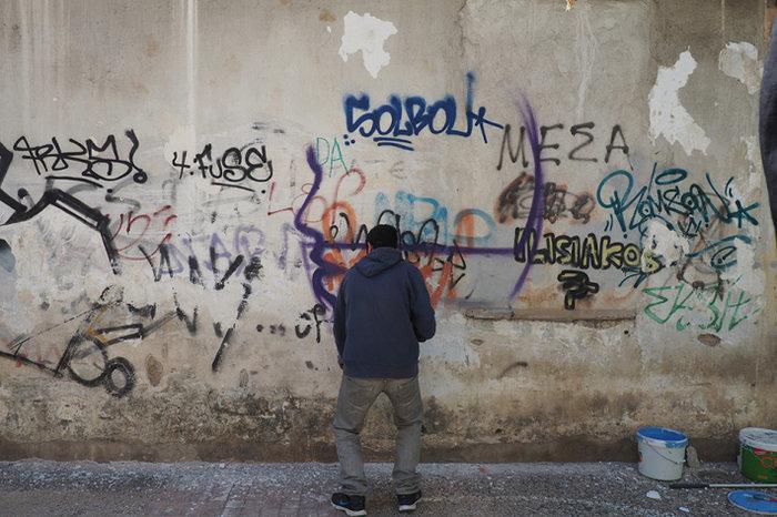 Μια street art επέμβαση σε εγκαταλελειμμένο κτίριο στην Πλ. Αττικής - εικόνα 5