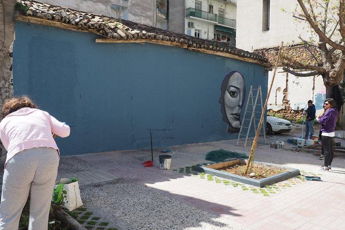 Μια street art επέμβαση σε εγκαταλελειμμένο κτίριο στην Πλ. Αττικής - εικόνα 7
