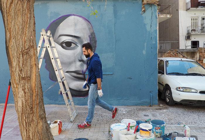 Μια street art επέμβαση σε εγκαταλελειμμένο κτίριο στην Πλ. Αττικής - εικόνα 8