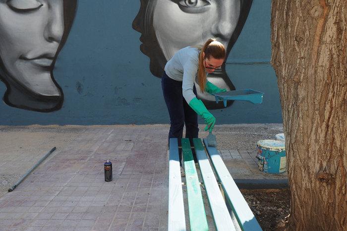 Μια street art επέμβαση σε εγκαταλελειμμένο κτίριο στην Πλ. Αττικής - εικόνα 12