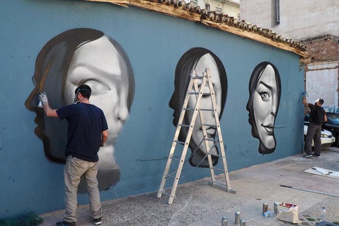 Μια street art επέμβαση σε εγκαταλελειμμένο κτίριο στην Πλ. Αττικής - εικόνα 13