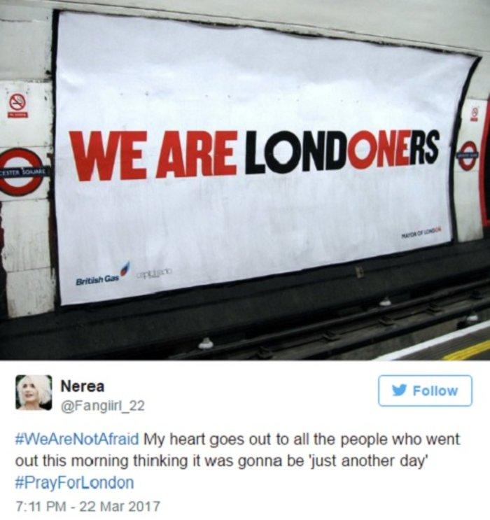 #WeAreNotAfraid: Οχι στον φόβο λένε οι Λονδρέζοι - εικόνα 4