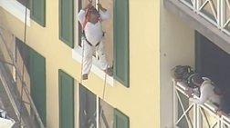 Μαϊάμι: Αντρας αιωρείται στο κενό από τον δωδέκατο όροφο