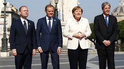 """'Επεσαν οι υπογραφές για την """"επανεκκίνηση"""" της Ευρώπης των 27"""