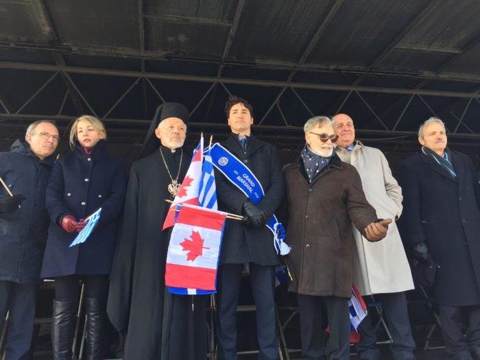 O Τζάστιν Τριντό στην παρέλαση της 25ης Μαρτίου στο Μόντρεαλ - εικόνα 4