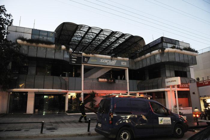 Υπό έλεγχο τέθηκε η φωτιά σε εμπορικό κέντρο στο Χαλάνδρι