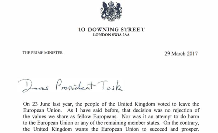 Αυτή είναι η επιστολή της Μέι για το Brexit - Το πλήρες κείμενο
