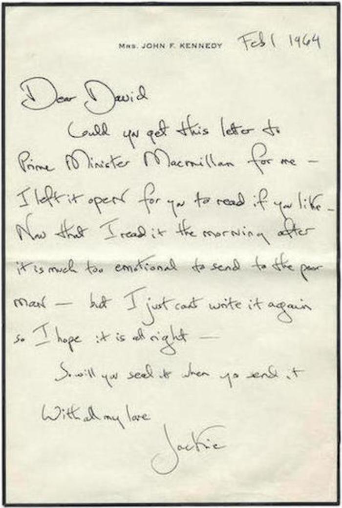 Τα γράμματα της Τζάκι σε άγγλο θαυμαστή λίγο πριν παντρευτεί τον Ωνάση