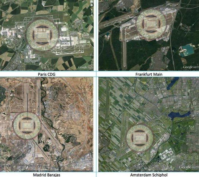 Πώς θα μεταμορφώνονταν τέσσερα μεγάλα διεθνή αεροδρόμια, αν υιοθετούσαν το σχέδιο του Ολλανδού μηχανικού
