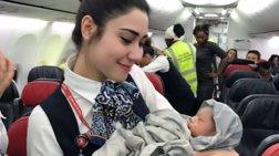 Γέννησε σε Boeing της Turkish Airlines στα 42 χιλιάδες πόδια!