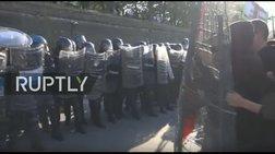 Ιταλία: Άγριο ξύλο και συγκρούσεις με την αστυνομία στην G7 (βίντεο)