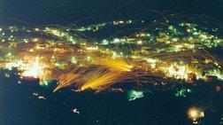 """Και φέτος έγινε ο """"πόλεμος"""" στη Χίο αλλά με λιγότερες ρουκέτες"""