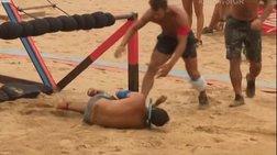 Σοκαριστικό βίντεο: Ο τραυματισμός του Αναγνωστόπουλου στο Survivor