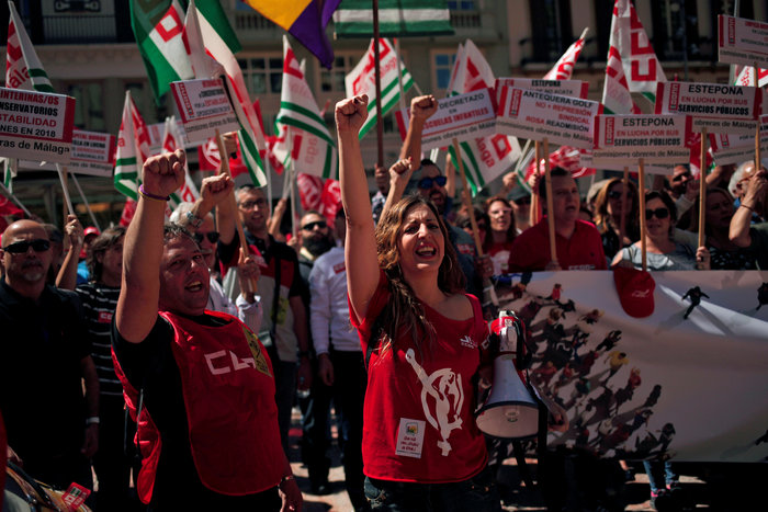 Ισπανία: Πορείες κατά της εργασιακής ανασφάλειας και της διαφθοράς - εικόνα 2