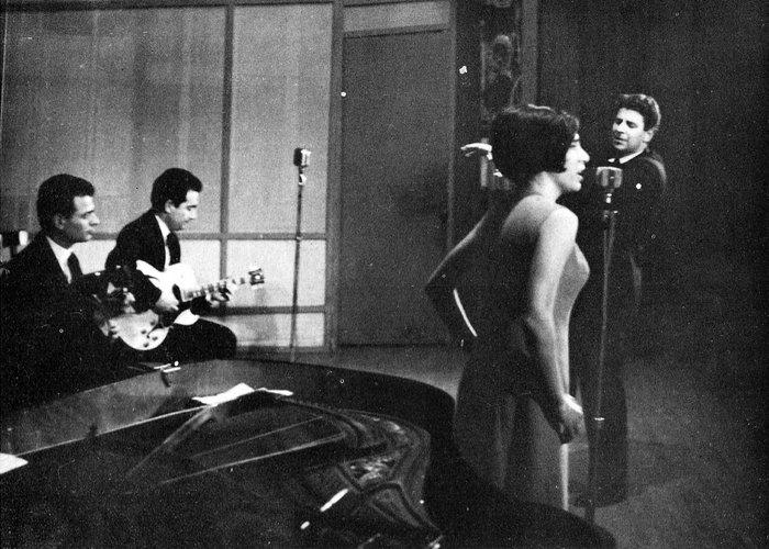 Με τη Μαρία Φαραντούρη (1965)