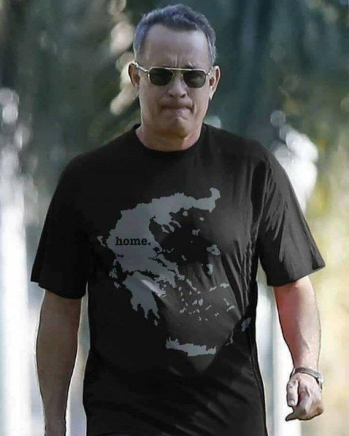 """Ο """"φιλέλληνας"""" Τομ Χανκς και η viral φάρσα με τις μπλούζες του - εικόνα 4"""