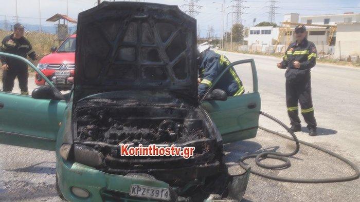 Φωτιά σε αυτοκίνητο εν κινήσει στην Επαρχιακή Οδός Κορίνθου - Εξαμιλίων - εικόνα 3
