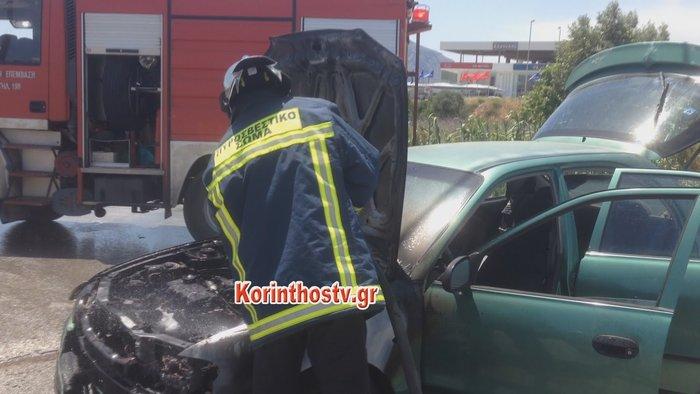 Φωτιά σε αυτοκίνητο εν κινήσει στην Επαρχιακή Οδός Κορίνθου - Εξαμιλίων - εικόνα 4