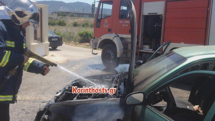 Φωτιά σε αυτοκίνητο εν κινήσει στην Επαρχιακή Οδός Κορίνθου - Εξαμιλίων - εικόνα 5