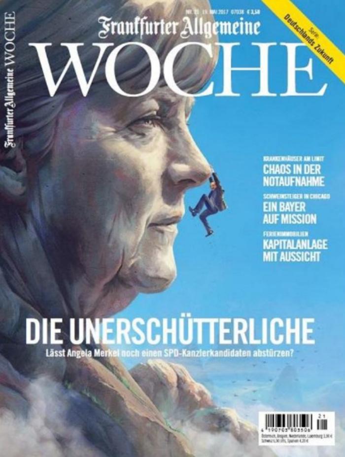 Ακλόνητη η Μέρκελ: Το εξώφυλλο του περιοδικού της FAZ