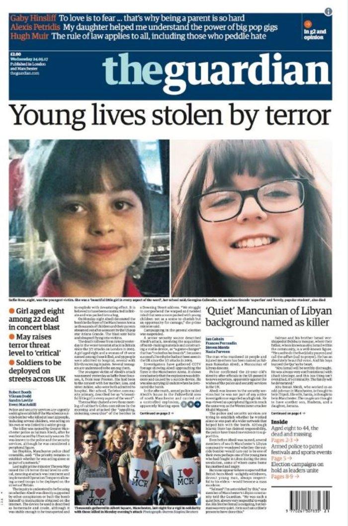 Τα βρετανικά πρωτοσέλιδα: Οι τρομοκράτες «έκλεψαν» τις ζωές παιδιών - εικόνα 3