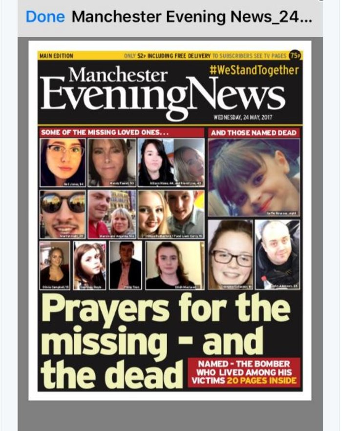 Τα βρετανικά πρωτοσέλιδα: Οι τρομοκράτες «έκλεψαν» τις ζωές παιδιών - εικόνα 4