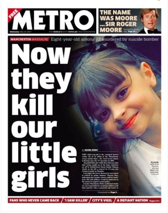 Τα βρετανικά πρωτοσέλιδα: Οι τρομοκράτες «έκλεψαν» τις ζωές παιδιών - εικόνα 5