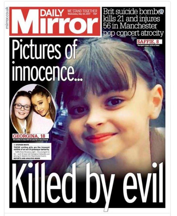 Τα βρετανικά πρωτοσέλιδα: Οι τρομοκράτες «έκλεψαν» τις ζωές παιδιών - εικόνα 6