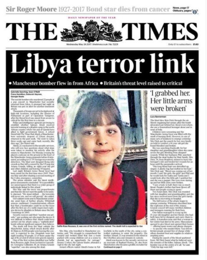 Τα βρετανικά πρωτοσέλιδα: Οι τρομοκράτες «έκλεψαν» τις ζωές παιδιών - εικόνα 8