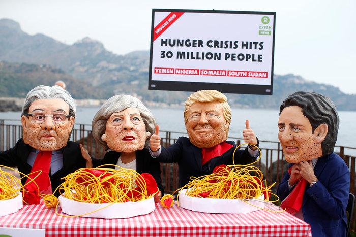 Η διαμαρτυρία της Oxfam στην Νάξο της Σικελίας για την πείνα