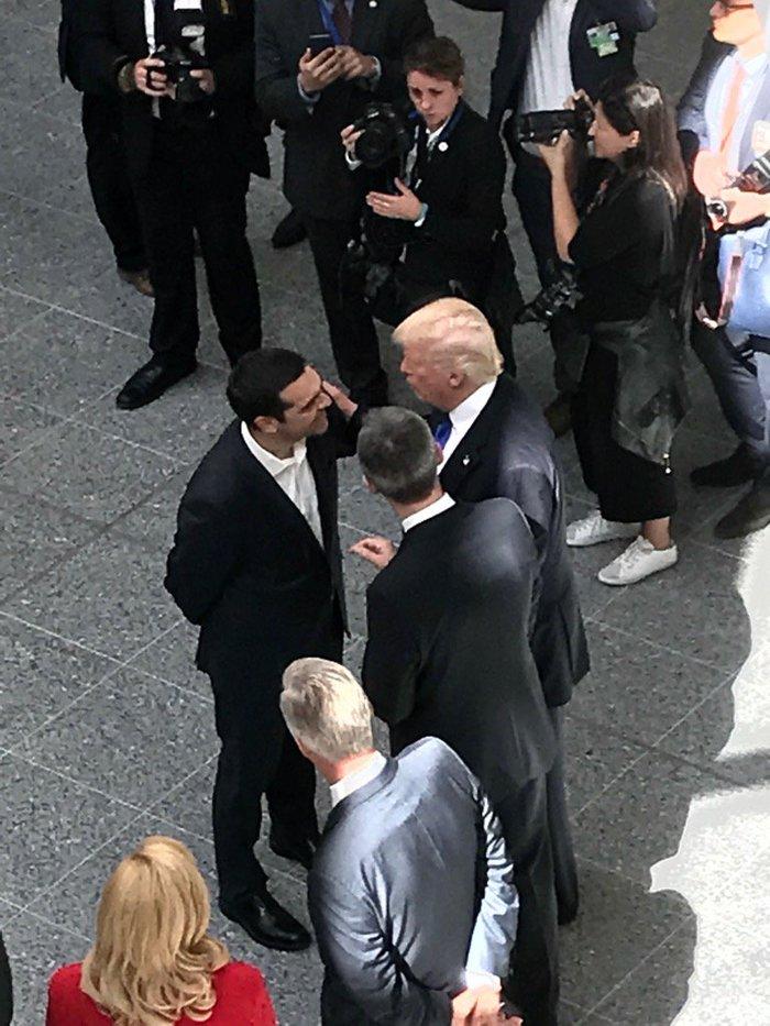 Ο Τσίπρας συνάντησε τον Τραμπ στη Σύνοδο του ΝΑΤΟ [εικόνες] - εικόνα 3
