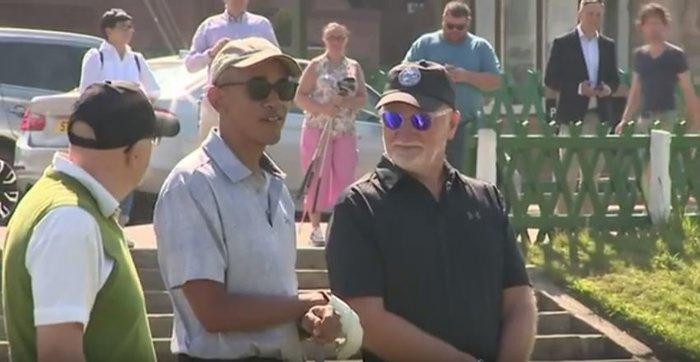 Ο Μπαράκ Ομπάμα παίζει γκολφ και οι φαν παραληρούν [Βίντεο] - εικόνα 3