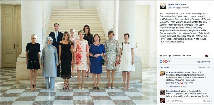 Η λογοκρισία του Λευκού Οίκου στον Πρώτο Κύριο στη φωτό με τη Μελάνια