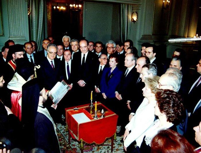 Ορκομωσία κυβέρνησης Μητσοτάκη 1990