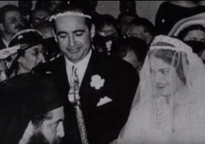 Ο γάμος του με την Μαρίκα Μητσοτάκη το 1953