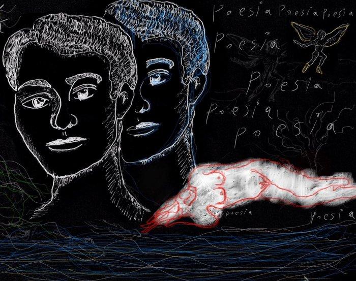 Περδικάρης Νικόλας, Poesia 30x42cm, Ψηφιακό σε οθόνη αφής και σχεδιασμός με το δάχτυλο και το νύχι