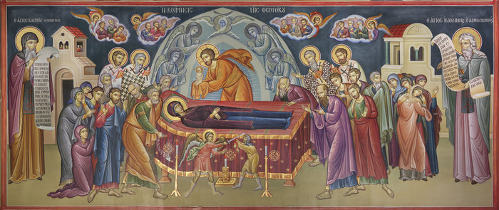 Η Κοίμησις τηξς Θεοτόκου (Μονή Αγίου Στεφάνου Μετεώρων)