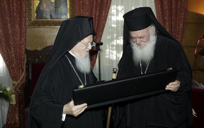 Συνάντηση Ιερώνυμου με τον Οικουμενικό Πατριάρχη Βαρθολομαίο