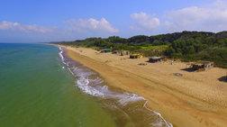 Aεροφωτογραφίες από την παραλία της Μαραθιάς στην Ηλεία
