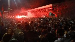 Η εντυπωσιακή υποδοχή των παικτών του ΠΑΟ μετά τη νίκη στο ΣΕΦ (ΦΩΤΟ)