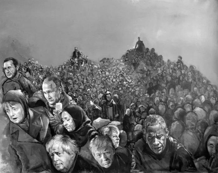 Ο σύριος καλλιτέχνης που μεταμόρφωσε τους πολιτικούς ηγέτες σε πρόσφυγες - εικόνα 8