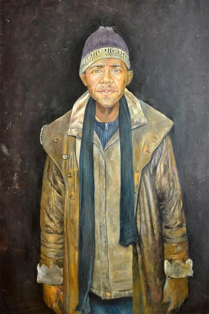 Ο σύριος καλλιτέχνης που μεταμόρφωσε τους πολιτικούς ηγέτες σε πρόσφυγες - εικόνα 9