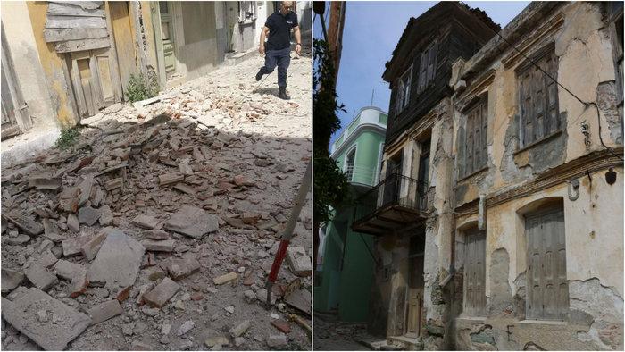 Εικόνες βιβλικής καταστροφής στη Λέσβο - Μια γυναίκα νεκρή - εικόνα 4