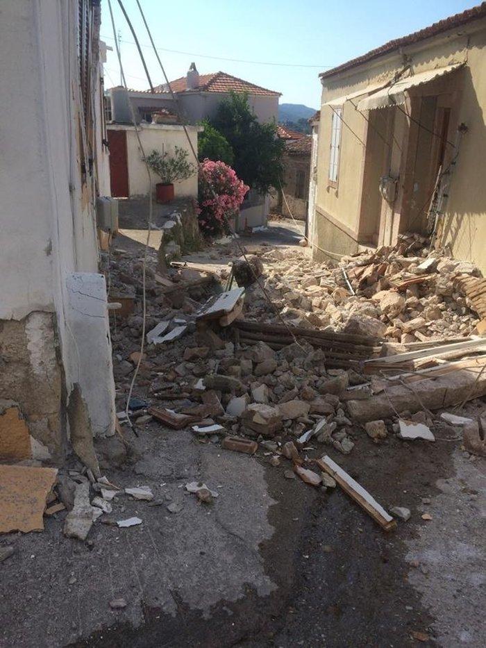 Η Λέσβος μετρά τις πληγές της μία ημέρα μετά τον ισχυρό σεισμό