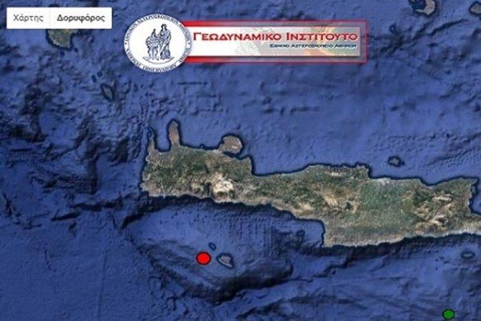 Σεισμός 4,2 βαθμών της κλίμακας Ρίχτερ και στη Γαύδο