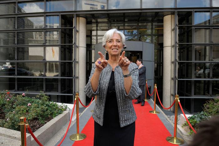 Η γενική διευθύντρια του Ταμείου Κριστίν Λαγκάρντ
