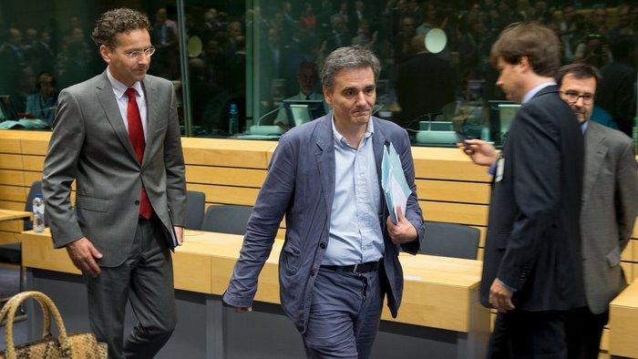 Ο Ευκλείδης Τσακαλώτος κατά τη διάρκεια παλαιότερης συνεδρίασης του Eurogroup